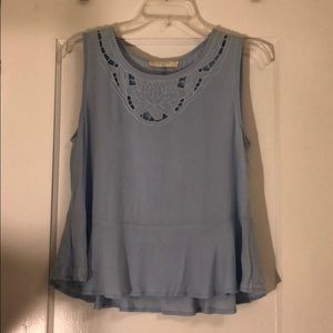 Élodie Light Blue Embroidered Blouse Size M